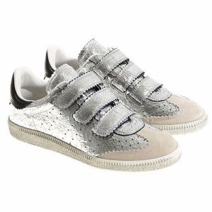 Isabel Marant Silver Beth Low Top